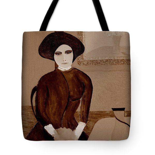 Tote Bag featuring the painting Marianne Waiting by Bill OConnor