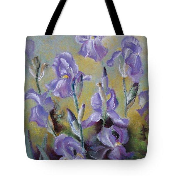 Maria's Irises Tote Bag