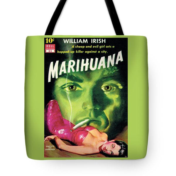 Tote Bag featuring the painting Marihuana by Bill Fleming