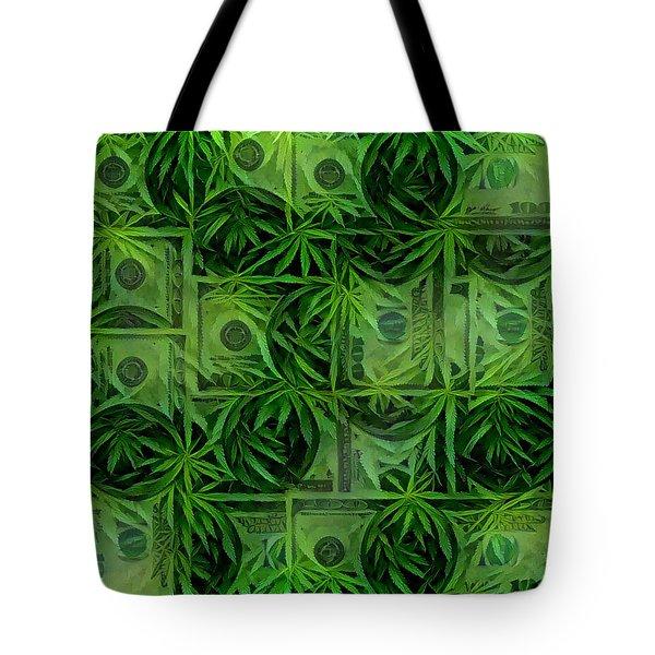 Marijuana Dollars Tote Bag