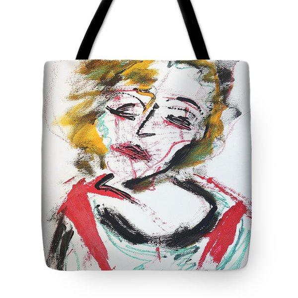 Marilyn Abstract Tote Bag