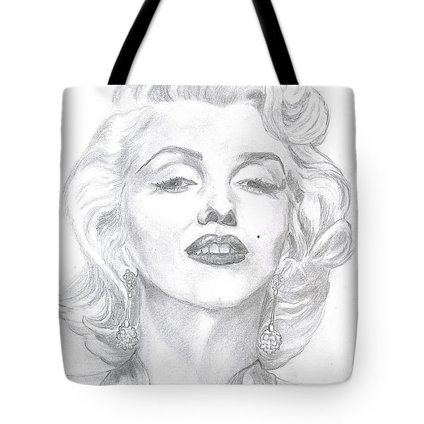 Marilyn  Tote Bag by Carol Wisniewski
