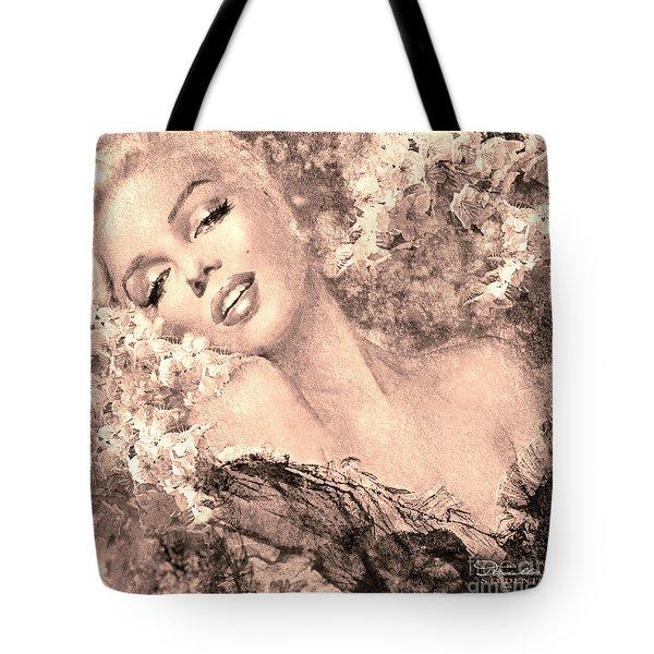 Marilyn Cherry Blossom, B Sepia Tote Bag