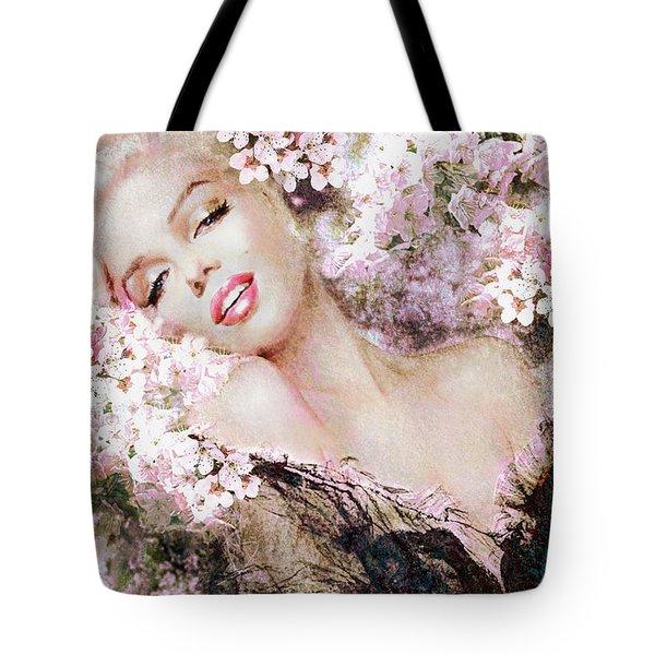 Marilyn Cherry Blossom B Tote Bag