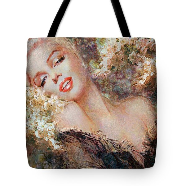 Marilyn Cherry Blossom Tote Bag