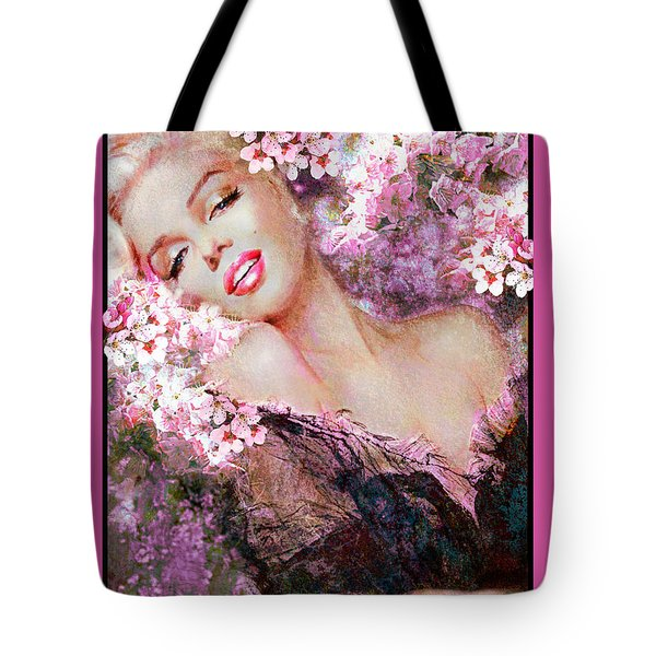 Marilyn Cherry Blossoms Pink Tote Bag