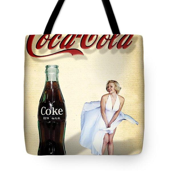 Marilyn Coca Cola Girl 3 Tote Bag