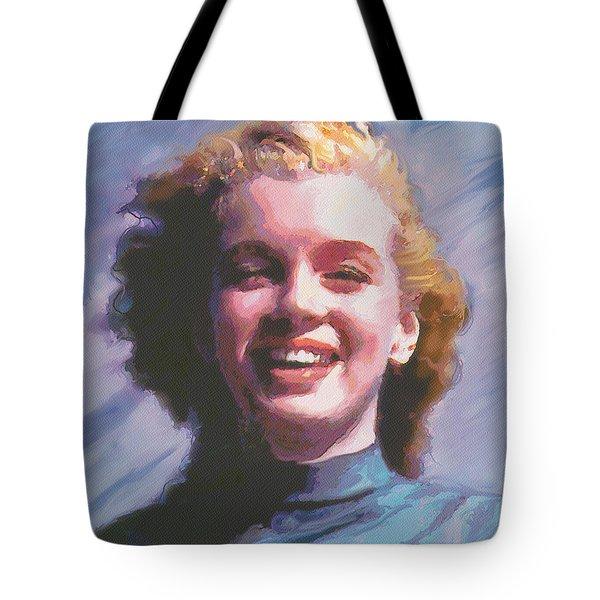 Tote Bag featuring the digital art Marilyn by David Klaboe
