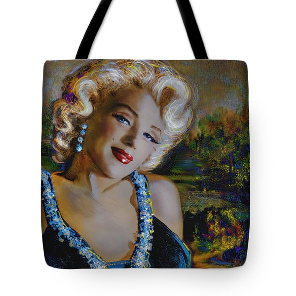 Marilyn Monroe 126 Monalisa Tote Bag