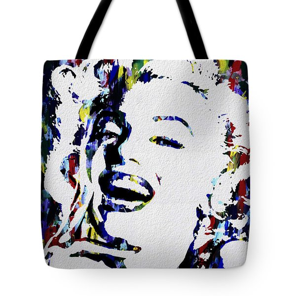 Marilyn Monroe Abstract Painting Tote Bag
