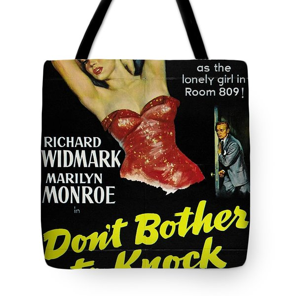Marilyn Monroe And Richard Widmark In Don't Bother To Knock Tote Bag
