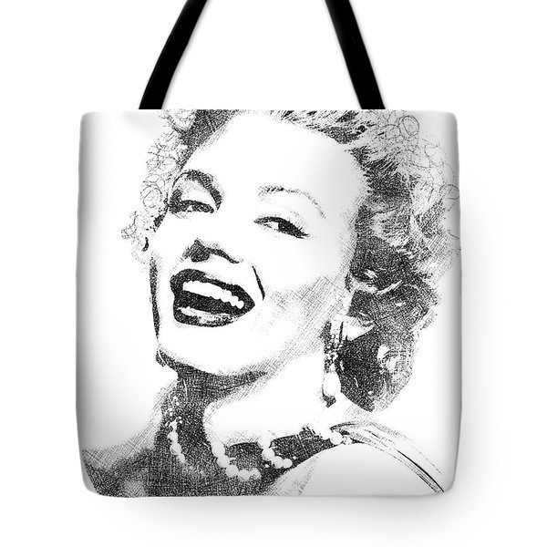 Marilyn Monroe Bw Portrait Tote Bag