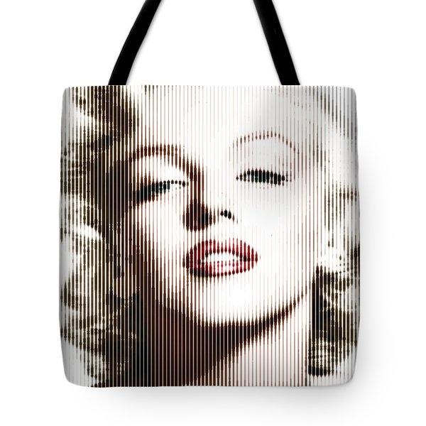 Marilyn Monroe - Colored Verticals Tote Bag