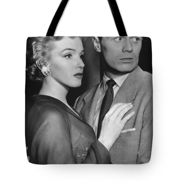 Tote Bag featuring the photograph Marilyn Monroe In Don't Bother To Knock by R Muirhead Art