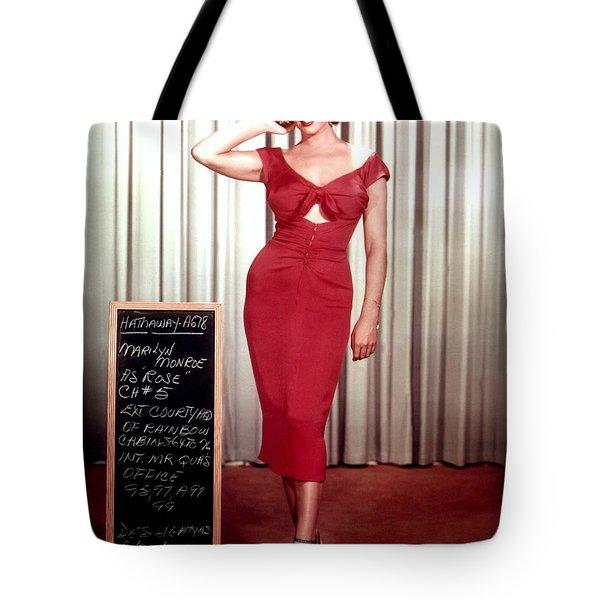 Marilyn Monroe In Gentlemen Prefer Blondes Tote Bag