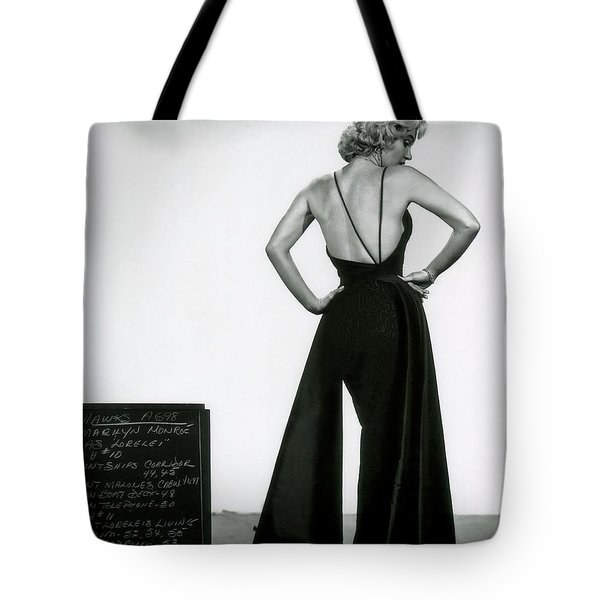 Tote Bag featuring the photograph Marilyn Monroe In Gentlemen Prefer Blondes by R Muirhead Art