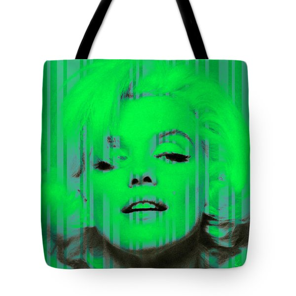 Marilyn Monroe In Green Tote Bag