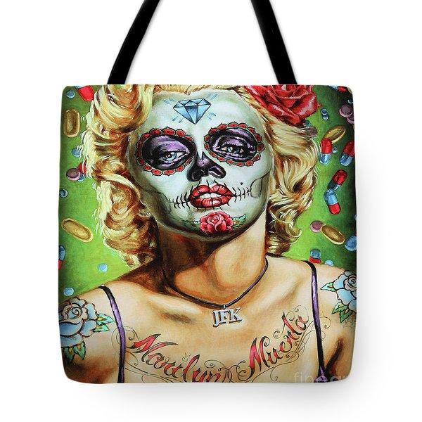 Marilyn Monroe Jfk Day Of The Dead  Tote Bag