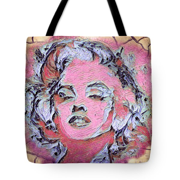 Tote Bag featuring the painting Marilyn Monroe by Lita Kelley