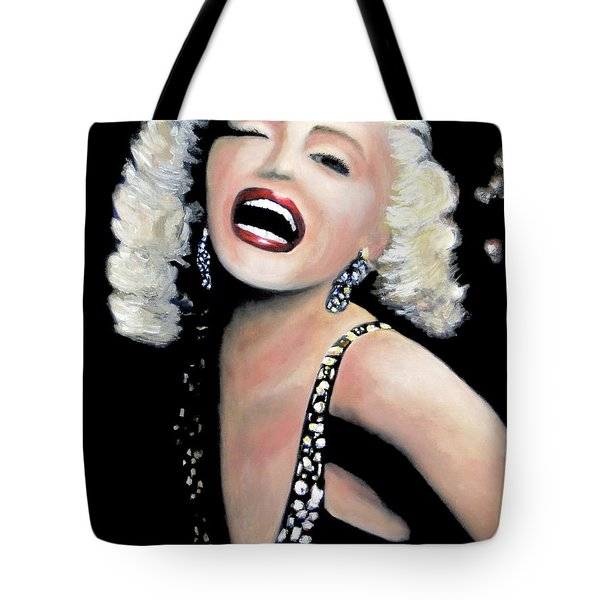 Tote Bag featuring the painting Marilyn Monroe by Marti Green
