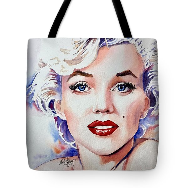 Tote Bag featuring the painting Marilyn Monroe  by Michal Madison