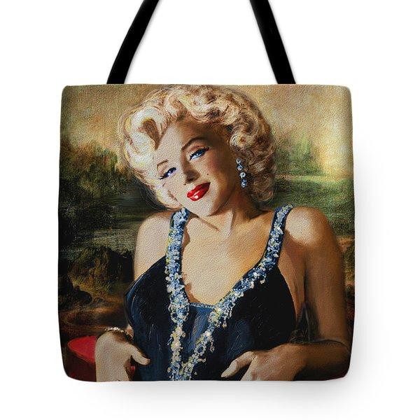Marilyn Monroe  Mona Lisa  Tote Bag