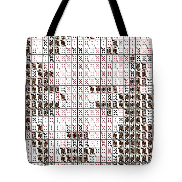 Tote Bag featuring the mixed media Marilyn Monroe Playing Card Mosaic by Paul Van Scott