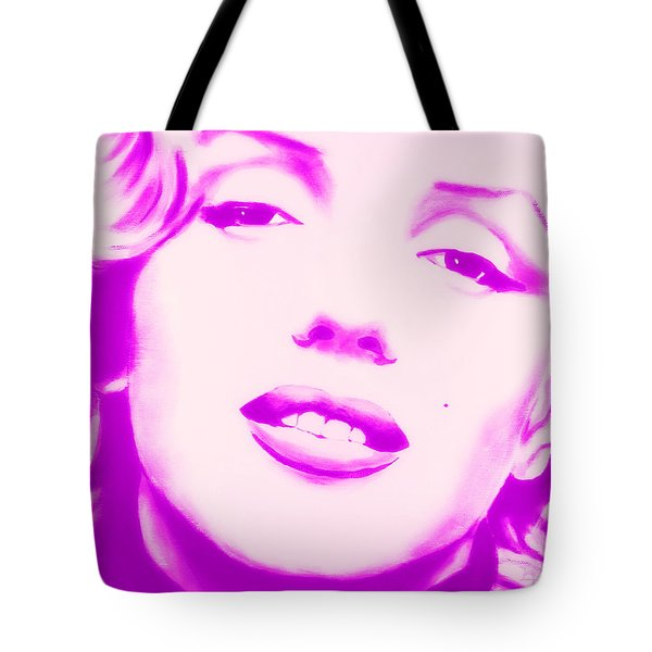 Marilyn Monroe, Purple And Pink Tote Bag