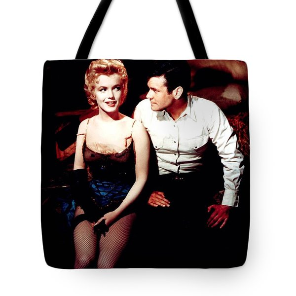 Tote Bag featuring the photograph Marilyn Monroe by R Muirhead Art