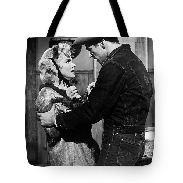 Tote Bag featuring the photograph Marilyn Monroe Scene by R Muirhead Art