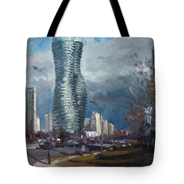 Marilyn Monroe Towers Mississauga Tote Bag