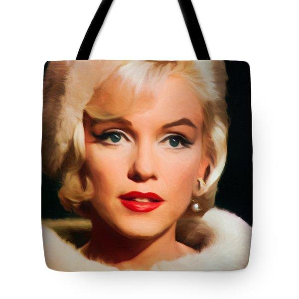 Marilyn Monroe Tote Bag by Vincent Monozlay