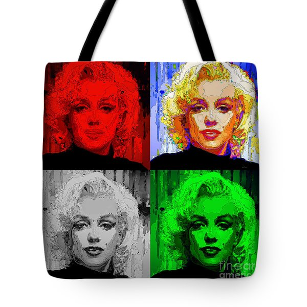 Marilyn Monroe - Quad. Pop Art Tote Bag