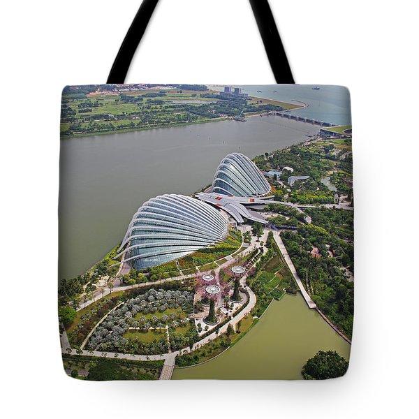 Marina Bay Sands Flower Garden And Park Tote Bag