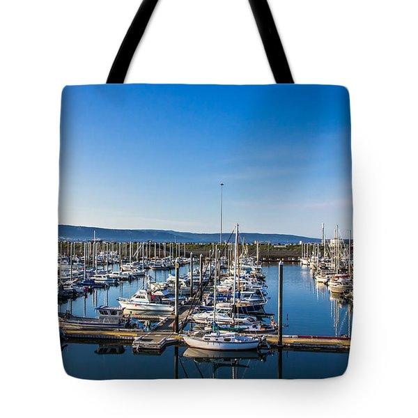 Marina Blue Tote Bag by David Warrington