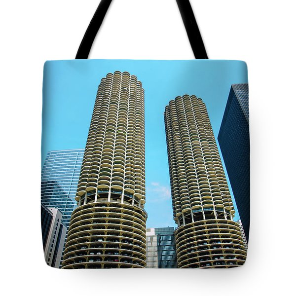 Marina City Chicago Tote Bag