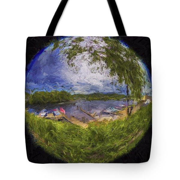 Tote Bag featuring the photograph Marina Fisheye by Tom Singleton