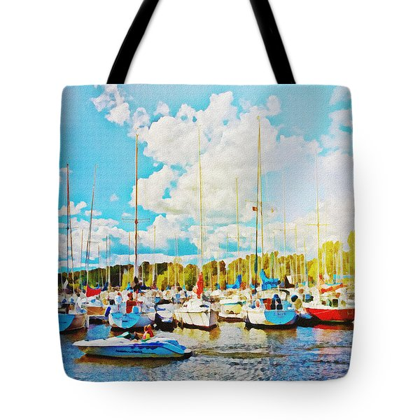 Marina In The Summertime Tote Bag