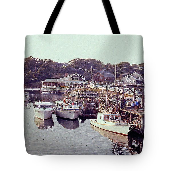 Tote Bag featuring the photograph Marina Lake George New York by Merton Allen