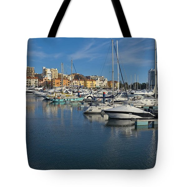 Marina Of Vilamoura At Afternoon Tote Bag