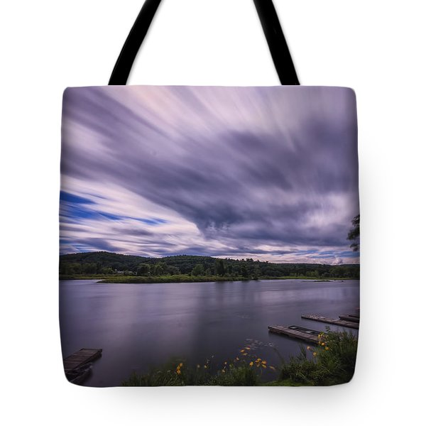 Tote Bag featuring the photograph Marina Sky by Tom Singleton