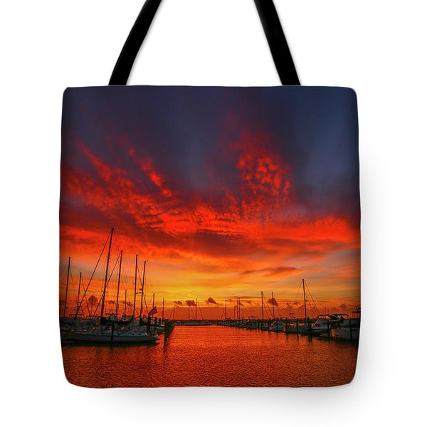 Marina Sunrise - Ft. Pierce Tote Bag