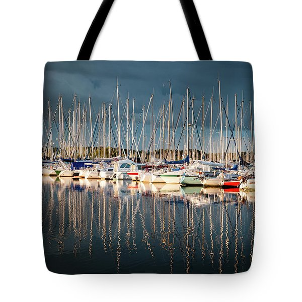 Marina Sunset 4 Tote Bag