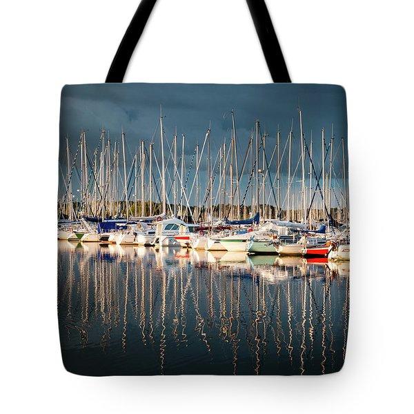 Marina Sunset 4 Tote Bag