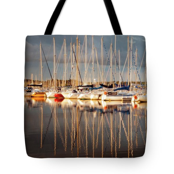 Marina Sunset 6 Tote Bag