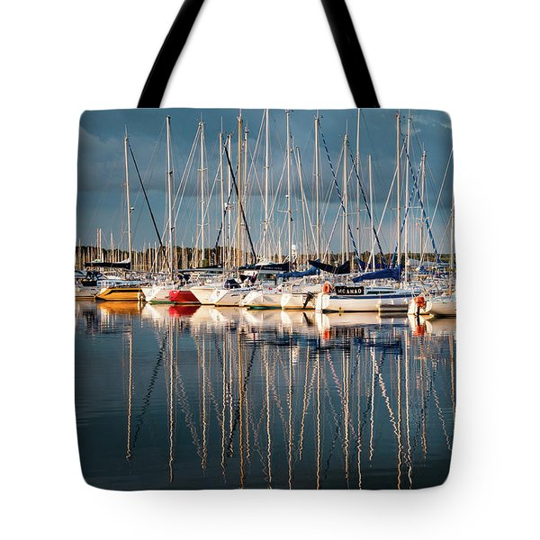 Marina Sunset 7 Tote Bag