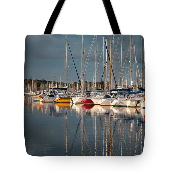 Marina Sunset 8 Tote Bag
