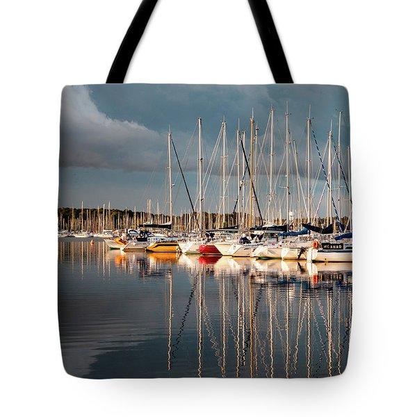 Marina Sunset 9 Tote Bag