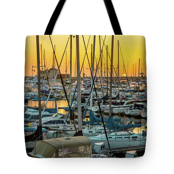 Tote Bag featuring the photograph Marina Sunset by April Reppucci