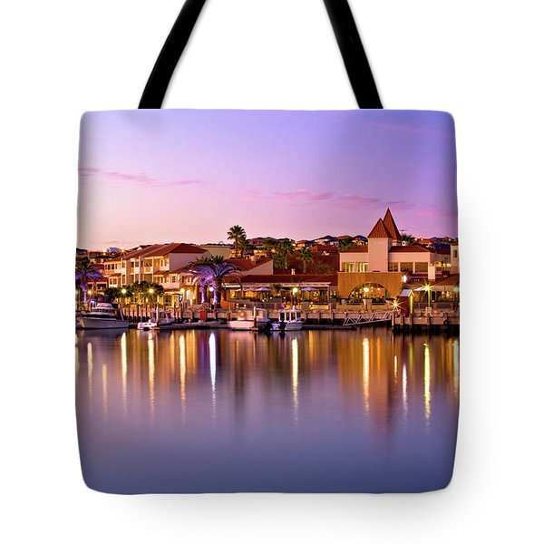 Tote Bag featuring the photograph Marina Sunset, Mindarie by Dave Catley
